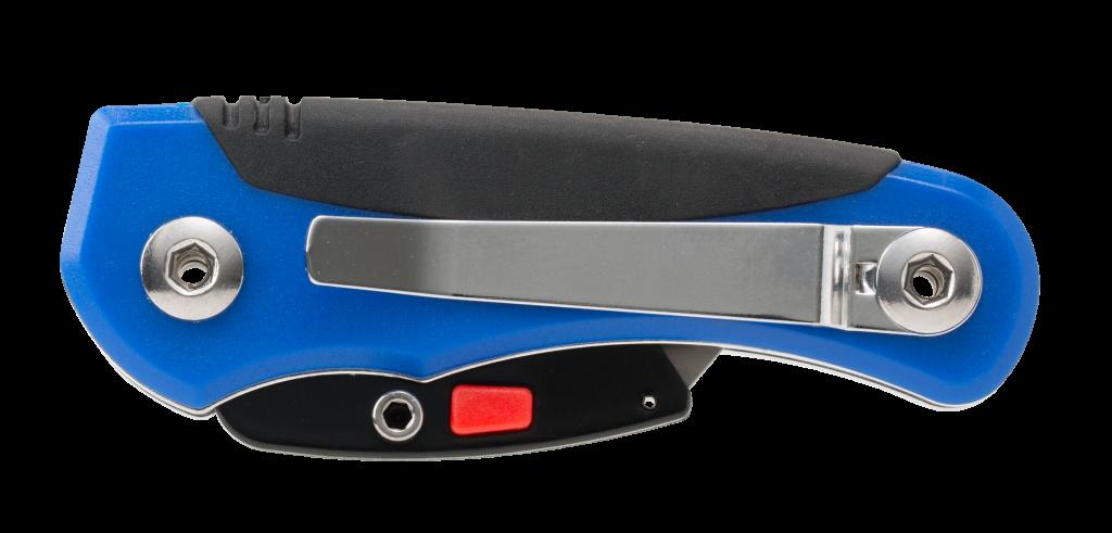 ナルビーのポータブルナイフは裏面に便利なポケットクリップ付き